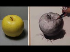 Fine Art Academy [ Basic Drawing ] How To Draw Fruits Drawing Now, Still Life Drawing, Basic Drawing, Gesture Drawing, Apple Painting, Fruit Painting, Drawing Apple, Youtube Drawing, Fruits Drawing