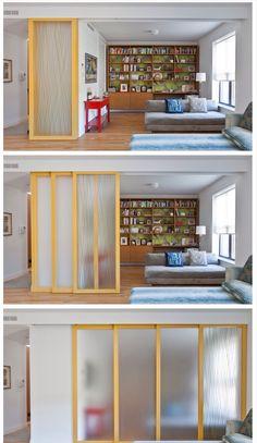 Instead of a barn door between entry and new room?