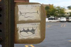 Mr. Switch street art   Faded but not forgotten!   #streetart #mrswitch #galerief #chicago #stickergraff