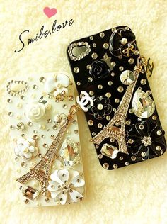 Chanel phone cases too cute if only I had a iphone! Chanel Phone Case, Bling Phone Cases, Ipod Cases, Cute Phone Cases, Iphone Case Covers, Iphone Leather Case, Ipod Nano, Cute Cases, Phone Cases