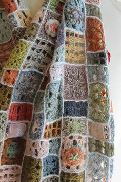 Detail of the wonderful wool scarf from Sophie Digard in the shop. Crochet loveliness!