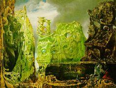 The Eye of Silence - Max Ernst (1944). Esta imagen fue usada en la primer edición de 'The Crystal World' del escritor inglés J.G. Ballard.