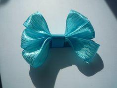 Blue Zebra bow by Krapfl Girl on Etsy