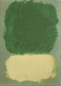 Mark Rothko, Untitled, 1968, Acrylic on paper mounted on hardboard. Editor's note: We have seen this usually in much brighter tones of green and yellow.