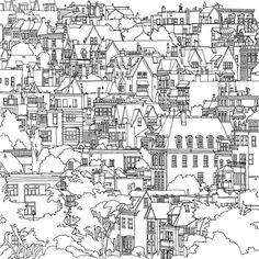 dream cities coloring book - Buscar con Google