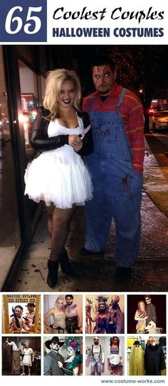 A couples costume could be just what you need to be set yourself apart from the crowd. It& a great way to involve your significant other or even a close friend in on the fun. Check out some of the coolest couples Halloween costumes from our contest. Cool Couple Halloween Costumes, Looks Halloween, Theme Halloween, Halloween Tags, Halloween 2016, Adult Halloween, Family Halloween, Diy Halloween Costumes, Happy Halloween