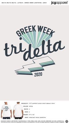Delta Greek, Greek Week, Custom Design Shirts, Tri Delta, Sorority And Fraternity, Comfort Colors, Screen Printing, Colorful Shirts, Chair