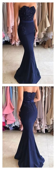 Sweetheart Beading Bodice Long Mermaid Prom Dresses Evening Dresses, Shop plus-sized prom dresses for curvy figures and plus-size party dresses. Ball gowns for prom in plus sizes and short plus-sized prom dresses for Strapless Prom Dresses, Prom Dresses For Teens, Prom Dresses 2018, Cheap Prom Dresses, Ball Dresses, Bridesmaid Dresses, Prom Gowns, Dress Prom, Bridesmaids