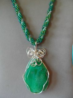 This is a very large green agate beautifully by JemsbyJackieS, $55.00