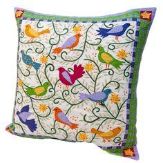 Susan Sargent Sparrows Pillow
