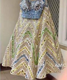 Pure Georgette Lehenga with Gotta and Foil Mirror Work Party Wear Indian Dresses, Wedding Dresses For Girls, Dresses For Work, Designer Bridal Lehenga, Designer Party Dresses, Indian Designer Outfits, Boutique Interior, Lehenga Saree Design, Lehenga Choli
