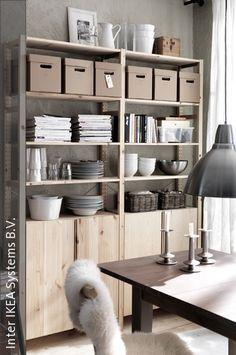 ikea ivar for kitchen storage with open shelves kitchen. Black Bedroom Furniture Sets. Home Design Ideas