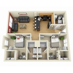 อ ง ค อ น โ ด home design plans, plan design, modern house plans, project. Sims House Plans, Modern House Plans, Small House Plans, House Floor Plans, Apartment Layout, Apartment Design, The Plan, How To Plan, Apartment Floor Plans