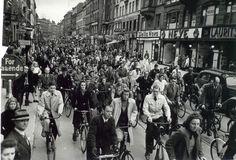 #Copenhagen, Denmark - Bicyclists in the 1940s