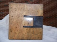 Letterpress Antique Wood Type Large Letter E Measures 7 1/4 Inch Tall x 7 Wide