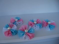 Three Toned Crepe Paper Embellishments or Cupcake by JeanKnee, $12.00