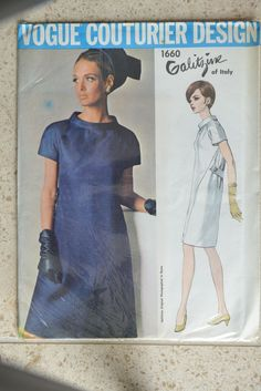Vintage Vogue Couturier Design Sewing Pattern 1660 (Galitzine of Italy