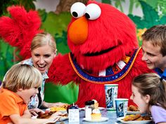 Lunch with Elmo and Friends | Busch Gardens Tampa: $22/adult, $15/child.  The cost to add a cake, reserved seating and a special birthday announcement to your Lunch with Elmo and Friends experience is $45