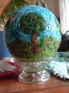 Bowling ball mosaic