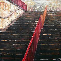 "Saatchi Art Artist: Simon Hopkinson; Acrylic 2014 Painting ""Steps three"""