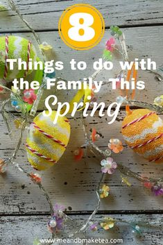 8 Awesome Things to do This Spring and Easter!  today on the blog I'm sharing with you a list of fun things to do this Easter that won't cost the earth. We have two weeks off school soon and we need some ideas up our sleeves! Oh and if you're looking for non-chocolate ideas for kids this Easter then check outour bumper guide here! #spring #ideas #kids #easy