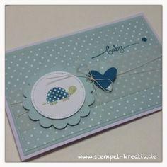 Stempel-Kreativ.de - Kreativ Karten gestalten: Eine Babykarte für einen Jungen ...