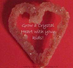 Mummyology:: Grow a Valentine's Day crystal heart Valentines Day Activities, Craft Activities For Kids, Valentine Day Crafts, Science For Kids, Holiday Crafts, Crafts For Kids, Science Activities, Science Fun, Craft Ideas