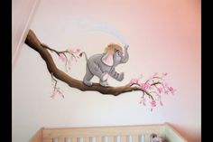 Muurschildering van Debzy's Baby Bedroom, Nursery Room, Girl Nursery, Girl Room, Kids Bedroom, Bedroom Murals, Wall Murals, Art Wall Kids, Wall Art