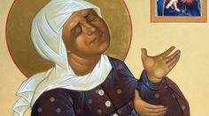 Man sieht nur mit dem Glauben gut, Augen braucht es nicht: Die heilige Matrona von Moskau als Ikone.