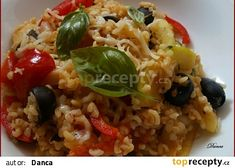 Bulgur s olivami po středomořsku recept - TopRecepty. Quinoa, Grains, Paleo, Food And Drink, Rice, Bread, Kitchen, Fitness, Bulgur