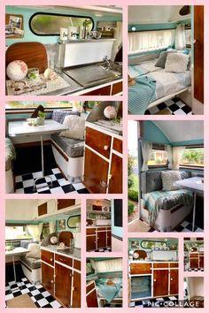 Vintage Caravan Interiors, Vintage Campers, Caravans, Cabinet, Chic, Storage, Furniture, Home Decor, Clothes Stand