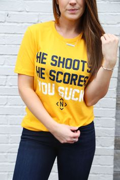 1bf7c8cb He Shoots He Scores You Suck / Nashville Tee / Nashville / Predators /  Hockey / Hockey Outfit / Womens Hockey Outfit / The NASH Collection