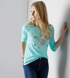 AE Eagle, V Neck, T Shirts For Women, American, Clothing, Tops, Fashion, Outfits, Moda