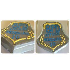 Police badge birthday cake
