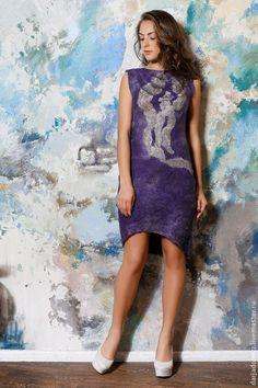 Купить Платье нуновойлок - фиолетовый, платье, платье вечернее, платье выпускное, платье футляр, футляр