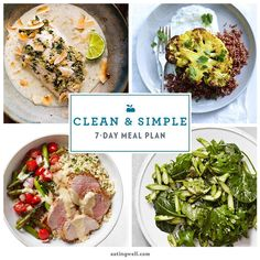 Clean & Simple 7-Day Meal Plan - EatingWell.com