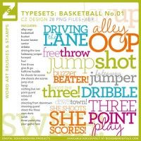 Basketball: Typesets: Basketball No. 01 Brushes and Stamps by Cathy Zielske
