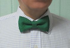 St. Patrick's day bow tie green shamrock gift pretied bow tie outline embroidered #st.patrick #menswear #accessory