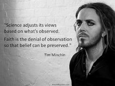 Atheism, Religion, God is Imaginary, Faith, Science. Science adjusts its views based on what's observed. Faith is the denial of observation so that belief can be preserved. Atheist Religion, Atheist Quotes, Agnostic Beliefs, Denial Quotes, Viking Religion, Liberal Quotes, Religion Humor, Life Quotes, Funny Quotes