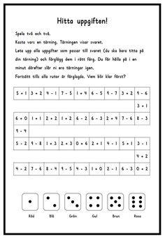 I spelet nedan tränar barnen på huvudräkning i talområdet 0-10. Spelplanen finns i två nivåer (och du kan enkelt göra fler genom att byta ut uppgifterna) så även om barnen kommit olika långt i sin …