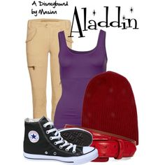 """Disneybounding Aladdin"" by callmemasian on Polyvore! follow her fashion blog at http://styledbymasian.tumblr.com!"