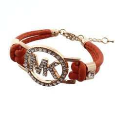 Michael Kors Rhinestone Logo Orange Accessories Outlet