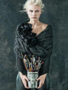 Hints of duckeggBLUE Carl Bengtsson photography for Madame Figaro Magazine December 2012 via Olga Jazzy blogspot