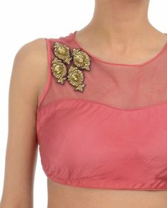 Candy Pink Blouse with Crystals
