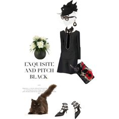"""Posh goth"" by pensivepeacock on Polyvore"