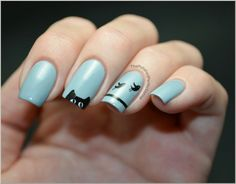 Cat & birds nailart (KonadM83)