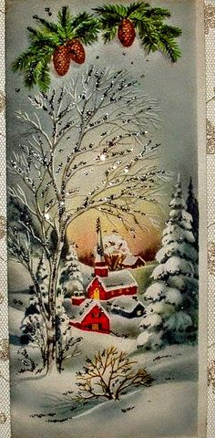 Trendy wall paper vintage old christmas cards Ideas Vintage Christmas Images, Old Christmas, Christmas Scenes, Old Fashioned Christmas, Retro Christmas, Vintage Holiday, Christmas Pictures, Christmas Holidays, Christmas Crafts