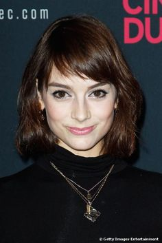 Bangs -  Audrey Hepburn inspired chopped fringe.