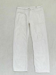 Polo Ralph Lauren Size34/32 White Pants Work Marine Mens Patchwork Painting #RalphLauren