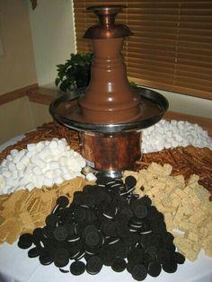 Chocolate fountain.  Easy & cheap!